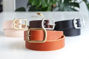 SOLID BRASS BUCKLE LEATHER BELTS